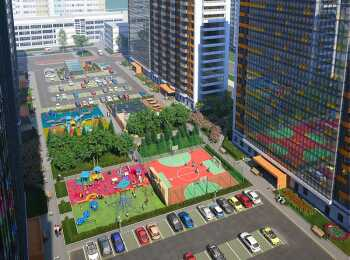 Подземный паркинг и автостоянка на территории